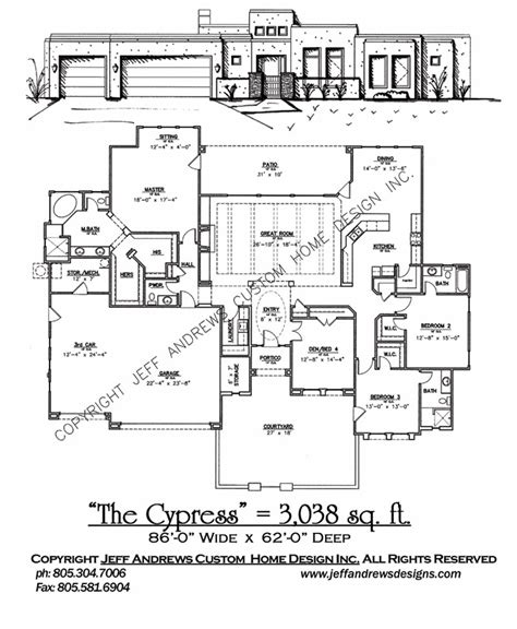 andrews home design group the cypress 3 038 00 andrews home design group st