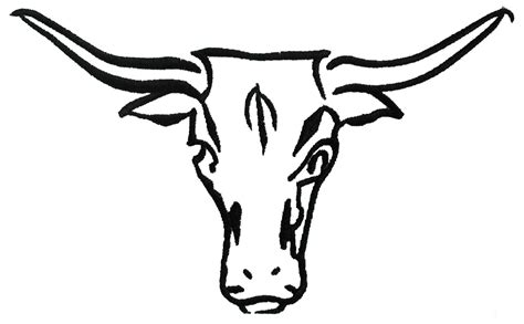 Longhorn Skull Clipart