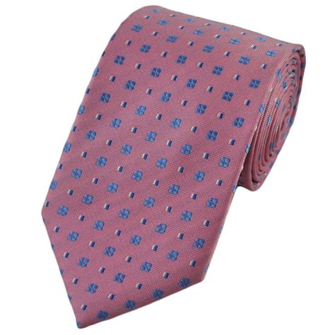 blue patterned ties powder pink blue white patterned silk tie from ties