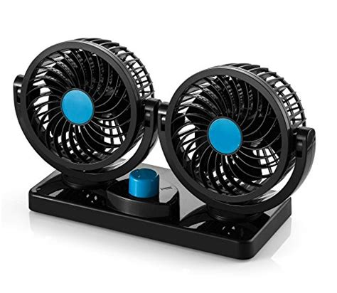 fan that blows cool air abovetek 174 dual car auto cooling air fan quickly