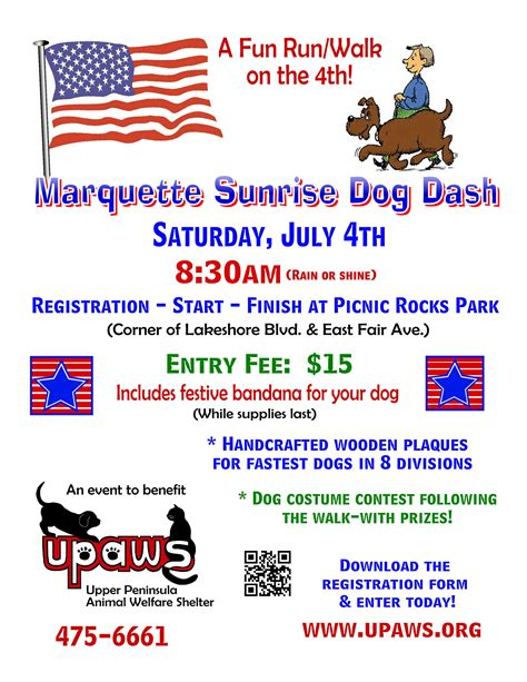 upaws dogs marquette dash peninsula animal welfare shelter