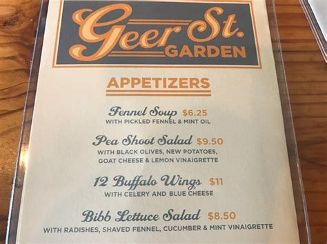 Geer Garden Menu by Geer Garden Durham Menu Prices Restaurant