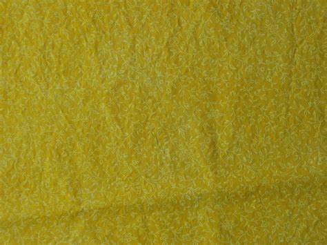 Bright Yellow Upholstery Fabric by Bright Yellow Buttercup Cotton Quilt Fabric Floral Vines 7 8