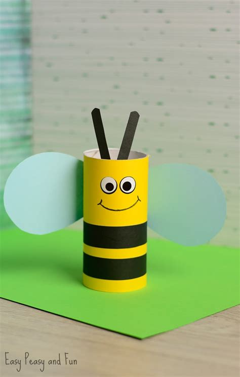 Free Toilet Paper Roll Crafts - toilet paper roll bee craft for easy peasy and