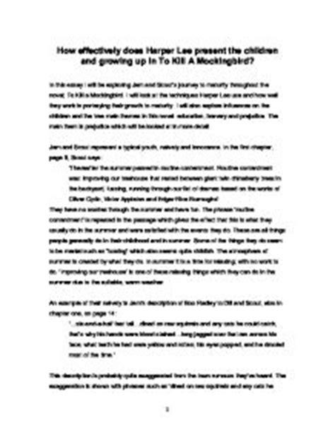 to kill a mockingbird growing up theme essay kill mockingbird essay atticus finch