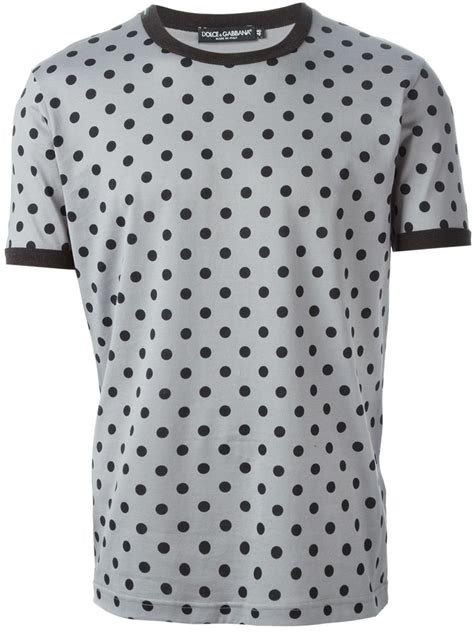Dots T Shirt dolce gabbana polka dot t shirt in gray for grey