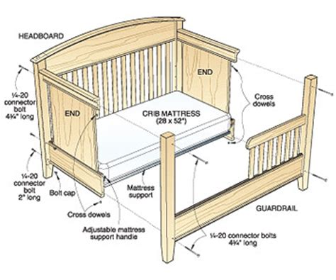 Wood Cribbing Design by Woodwork Baby Bed Plans Pdf Plans