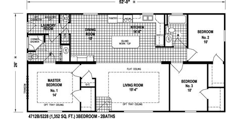 skyliner 4712b floor plan skyline homes