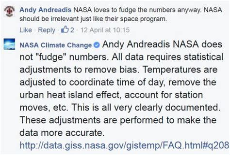 island an almost accurate account of days by books nasa calls out climate change deniers on the
