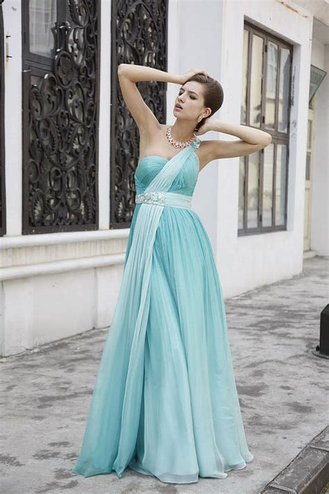 empire roman style  shoulder prom dress  elliot