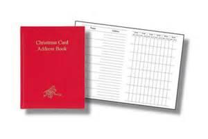 Card List Address Book - card address book holliday decorations
