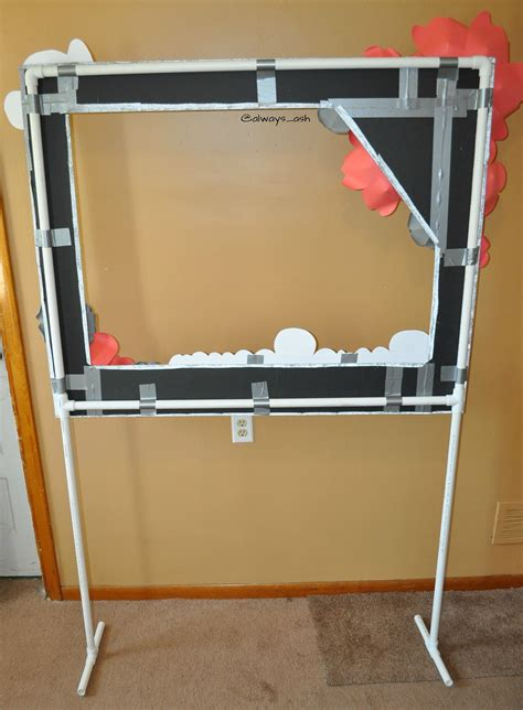 photo booth stand with light the back of photo booth frame on pvc pipe stand duck