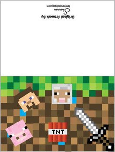 card minecraft invitations free printable ideas from