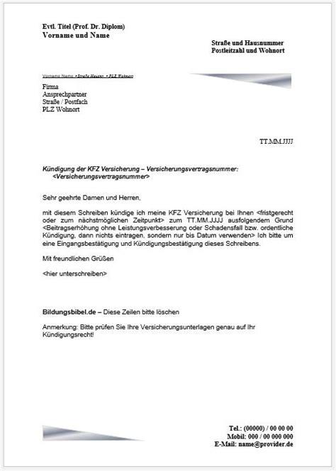 Bewerbungsschreiben Ausbildung Betriebswechsel K 252 Ndigung
