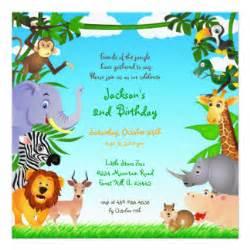 animal birthday invitations announcements zazzle au