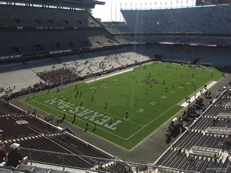 kyle field visitor section kyle field section 315 rateyourseats com