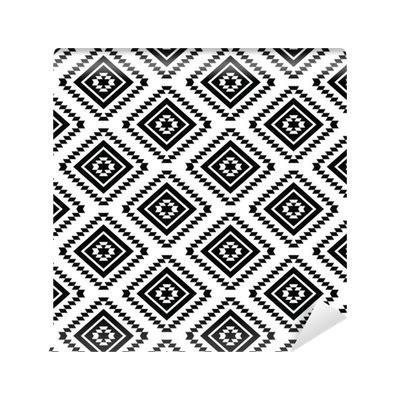 Changing Pattern Of Tribal Livelihoods | tribal seamless pattern aztec black and white background