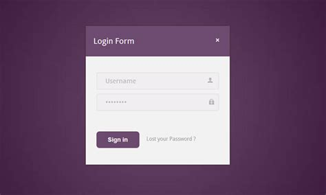 Free Html Login Templates image gallery login page template