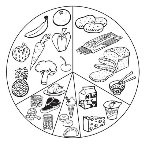 list healthy food coloring page health and wellness