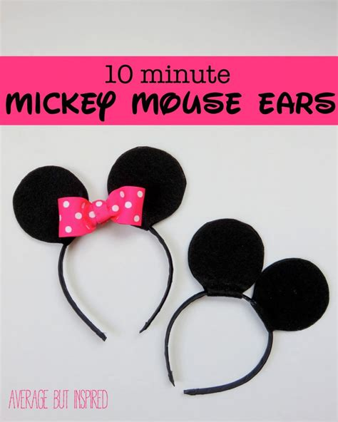 How To Make Mickey Mouse Ears Out Of Paper - how to make your own mickey or minnie mouse ears