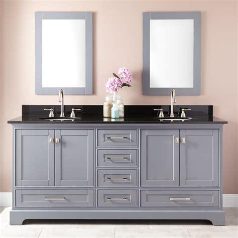 72quot quen double vanity for undermount sinks gray bathroom