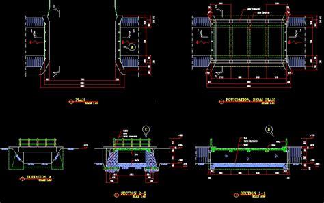 fungsi layout autocad referensi gambar kerja jembatan format dwg file autocad