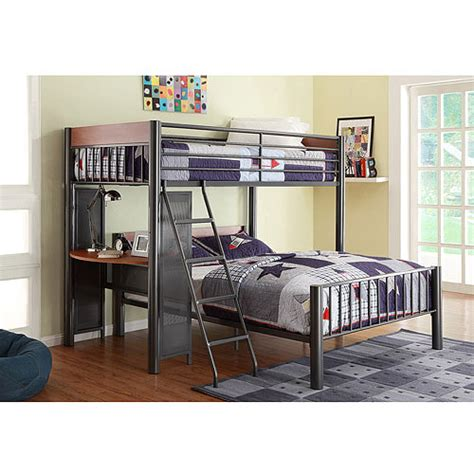 walmart twin over full bunk bed division twin over full metal loft bed light graphite