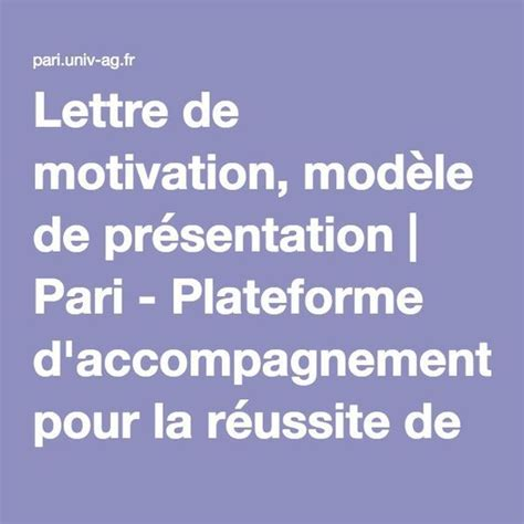 Lettre De Motivation Pour Free 25 Best Ideas About Mod 232 Le Lettre De Pr 233 Sentation On Lettre Pr 233 Sentation