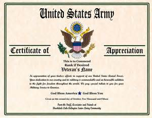 Military Certificates Templates Gallery For Gt Military Certificate Of Appreciation Templates