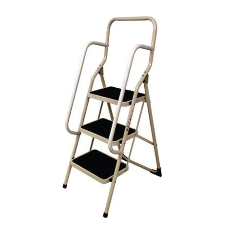 Folding Steps With Handrail white folding step stool with handrail step stools steps ladders steps slingsby