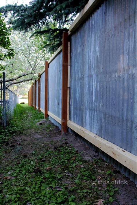 new fence out of corrugated steel backyard to do list