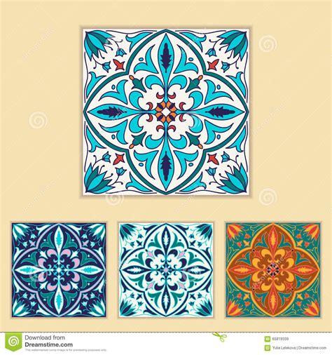 colors in portuguese vector portuguese tile design in four different color