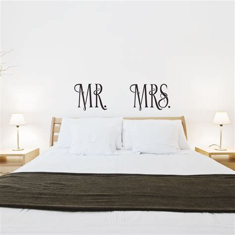 mr wall stickers mr and mrs wall quote decal