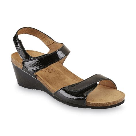Black Comfort Sandals by Vionic S Natasa Black Wedge Comfort Sandal Shop