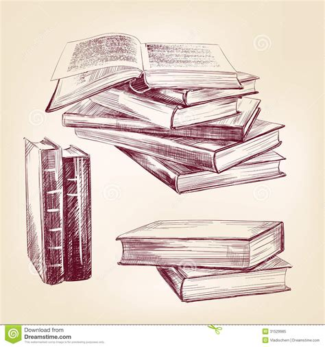 free sketch book in pdf vintage books set stock vector image