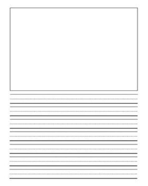 printable lined paper with drawing box pinterest the world s catalog of ideas