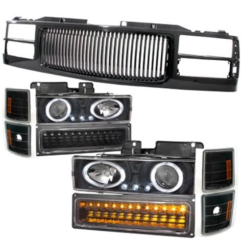 1996 gmc lights 1996 gmc 3500 black grill and halo projector