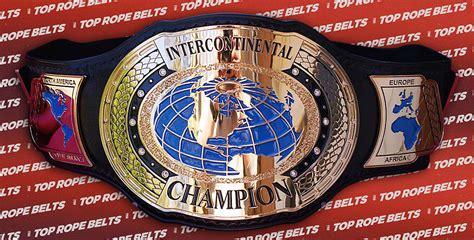trb oval intercontinental championship belt top rope belts
