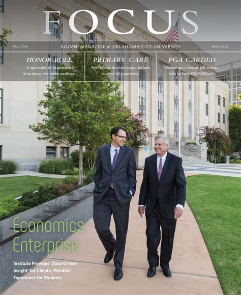 Ocu Mba by Oklahoma City Focus Alumni Magazine Fall 2016