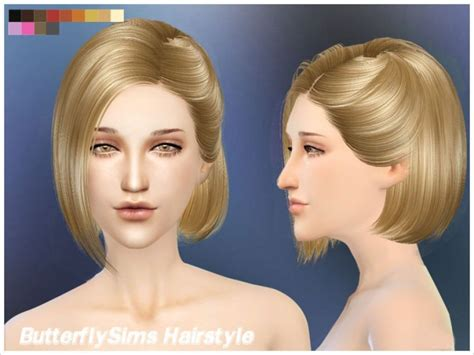 butterfly sims hair sims 4 hair 100 by yoyo at butterfly sims 187 sims 4 updates