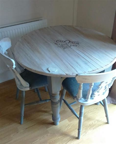 Beautiful Upcycled Shabby Chic Dining Table And Chairs Shabby Chic Dining Table And Chairs