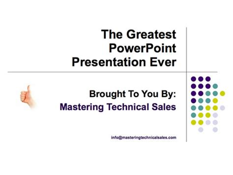 the greatest ppt presentation ever note amp point