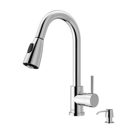 vigo single handle pull  sprayer kitchen faucet  soap dispenser  chrome vgchk