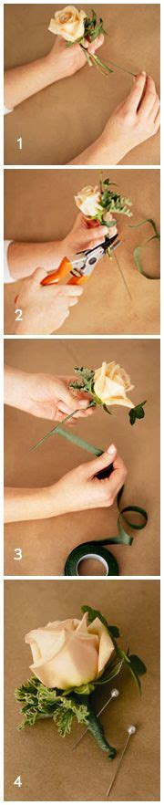 Learn How To Diy A Corsage by Wedding Bouquets Easy Diy Flower Tutorials Learn