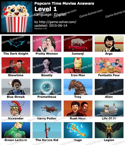 movie quiz cinema answers game solver popcorn time movies answers game solver