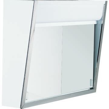 24w x 19 1 2 quot h top lighted sliding door mirror medicine