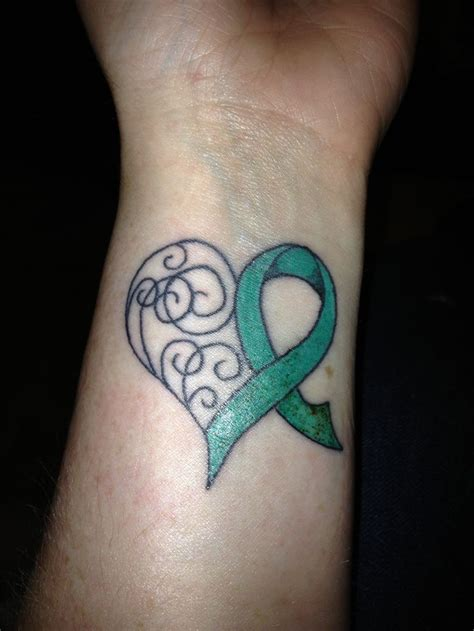 tattoo ribbon lettering 70 best cancer tattoos