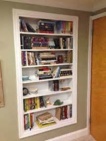 Build Bookshelves Into Wall Build Shelves Directly Into Your Walls For Storage