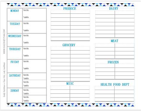 menu planner printable let each kid pick a meal for dinner a