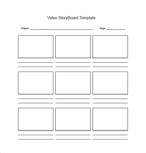 storyboard template software storyboard template 77 free word pdf ppt psd format